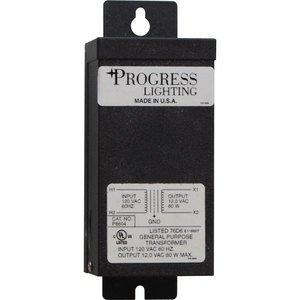 Progress Lighting P8604-31 Undercabinet Transformer, 60W, 12V, Black