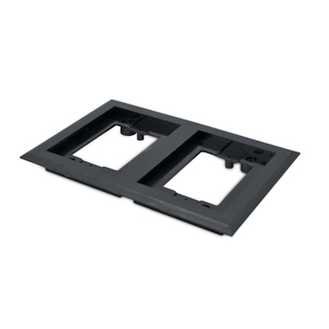 Wiremold 827PCC-BLK Cover Plate Flange, Square, 2-Gang, Black, Non-Metallic