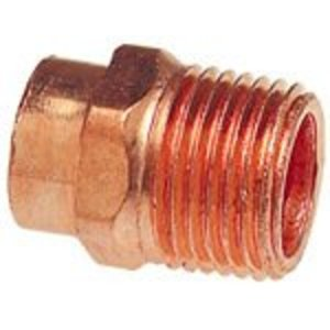 "NIBCO 9030600 Adapter, Type: C x M - WROT, Size: 1/2"", Copper"