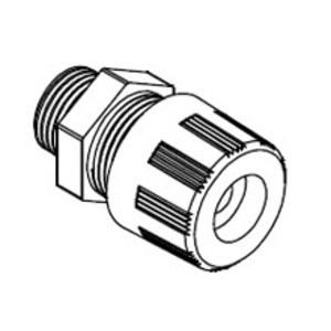 "Woodhead 5532 Cord-Sealing Grip, Strain Relief, Straight Male, 1/2"", Nylon"