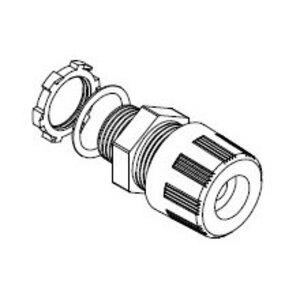 "Woodhead 5528W 1/2"" Max-Loc® w/ O-Ring Cord Grip, 0.375-0.437"""