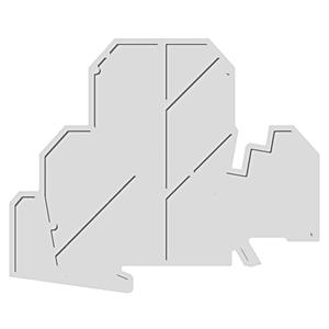 Allen-Bradley 1492-EBJD3P Terminal Block, End Barrier, Screw Type, Gray