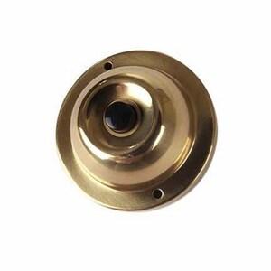 Edwards 600 Non-Illuminated Pushbutton, 12V-48V, Satin Brass, Black Button