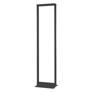 "Hoffman EDR19FM45U Open Frame Rack, Floor Mount, 2 Post, 19""W, 45RMU, 3"" Column, 7'H"