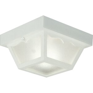 Progress Lighting P5744-30 Ceiling Light, Outdoor, 1-Light, 60W, White
