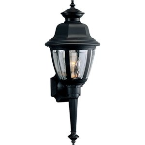 Progress Lighting P5738-31 Wall Lantern, Outdoor, 1-Light, 60W, Black