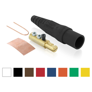 Leviton 16D22-UE Male, Plug, Detachable, Double Set Screw, 2-2/0 Awg, Black