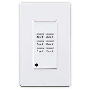 Leviton ZMDSW-6W Z-MAX® Digital Pushbutton Station, 06 Button, 1 Gang, White