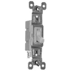 Pass & Seymour 660-IG Toggle Switch, 1-Pole, 15A, 120VAC, Ivory Grounding