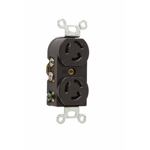 Pass & Seymour 4700 Twistlock Duplex Receptacle, 15A, 125V