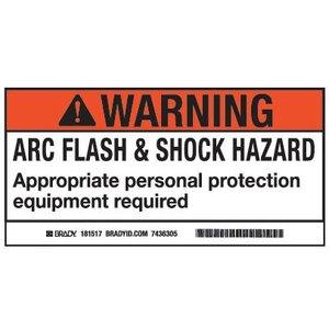 Brady 101519 Arc Flash/Shock Hazard Label