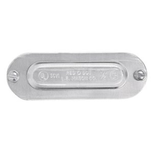 """Red Dot SCV-3 Conduit Body Cover, Size: 1"""", Material: Stamped Aluminum"""