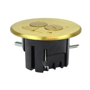 Allied Moulded FB-4 Floor Box Assembly, Round, Includes (2) Screw Plugs, Brass