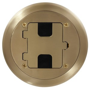 Hubbell-Wiring Kellems RF406BP Round Floor Box Cover, 1-Gang, Die Cast Aluminum