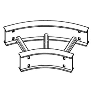 "Cooper B-Line 4A-12-45HB24 Horizontal Bend, 45 Degree, 24"" Radius, 12"" Wide, 4"" High, Aluminum"