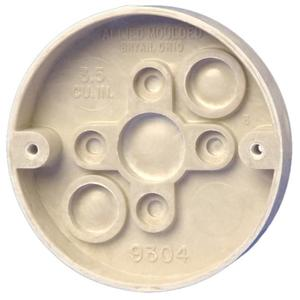 "Allied Moulded 9304 Ceiling/Fixture Pan, 3-3/8"" Round, Depth: 5/8"", Thermoset-Fiberglass"