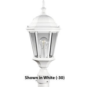 Progress Lighting P5482-31 Post Lantern, Outdoor, 1-Light, 100W, Textured Black