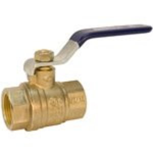 "NIBCO NL998HE Ball Valve, Two-Piece, Full Port, NPT x NPT, Size: 2-1/2"", Brass"