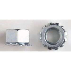 Gexpro Services 857160 Serrated Hex Flange Nut, # 10, Hard Zinc