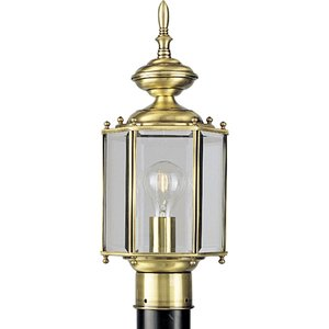 Progress Lighting P5430-10 Lantern, Outdoor, 1 Light, 100W, Polished Brass