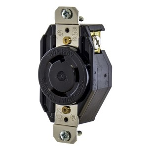 Hubbell-Kellems L530R Locking Single Receptacle, 30A, 125V, 2P3W