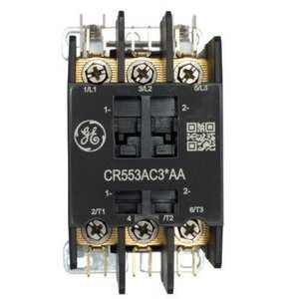 GE CR553AC4AAA Contactor, Definite Purpose, 4P, 30A, 110-120VAC Coil, Open