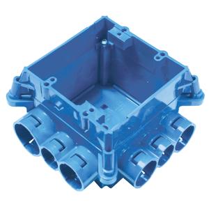 Carlon A863D 2-Gang, ENT Mud Box w/ 12 Integral Connectors, Non-metallic.