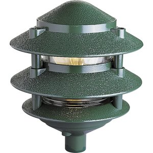 Progress Lighting P5204-38 Garden Light, 3-Tier, 1 Light, 100W, Green