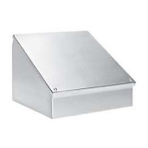 "Hubbell-Wiegmann WC12C12SS Consolet, NEMA 12, 12 x 12 x 9"", Sloped Screw Cover, Stainless Steel"