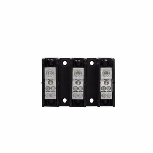 Eaton/Bussmann Series PDB220-3 Power Distribution Block, High SCCR, 3P, 1 Primary/Multiple Secondary