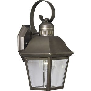 Progress Lighting P5687-20 Wall Lantern, Outdoor, 1-Light, 100W, Antique Bronze