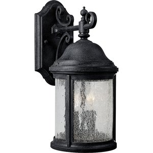 Progress Lighting P5649-31 Wall Lantern, Outdoor, 2-Light, 60W, Textured Black