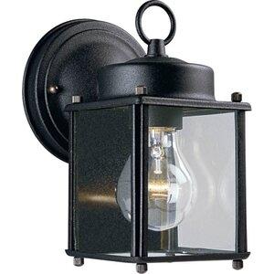 Progress Lighting P5607-31 Wall Lantern, Outdoor, 1-Light, 100W, Black