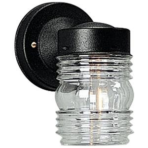Progress Lighting P5602-31 Wall Lantern, Outdoor, 1-Light, 75W, Black