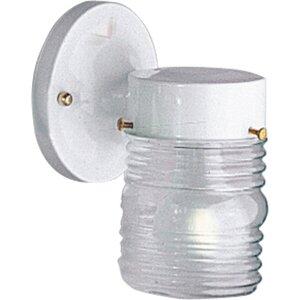 Progress Lighting P5602-30 Wall Lantern, Outdoor, 1-Light, 75W, White