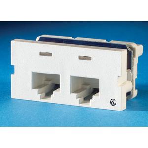 Ortronics S22600 Series II, 2 port Clarity 6, 180 Degree, Fog White
