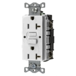 Hubbell-Kellems GFRST20W GFCI Receptacle, 20A, 125V, Self-Test, White