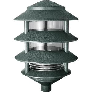 RAB LL22VG Garden Light, 4-Tier, 1 Light, 100W, 120V, Verde