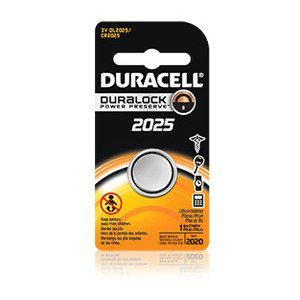 Duracell DL2025BPK Battery, 3V, DL2025, Lithium, Button Cell