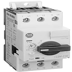 Allen-Bradley 140M-C-N45 Breaker, Motor Protection, Screw Adapter, 140M-C, D, F, 140U-D