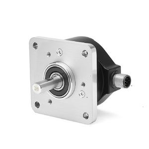 Allen-Bradley 847H-DN2A-RG00500 Incremental Encoder , Standard Square Flange , 3/8 inch Diameter Shaft with Flat , 4.5-5.5 Volt Line Driver,TTL (B-Leads-A, CW, Z gated with BN) , MS Connector, 10-Pin with mating connector, 500 Pulses per Revolution.