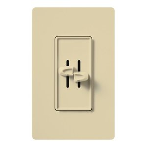 Lutron S2-LH-IV Dual Slide Dimmer, 300W, Ivory