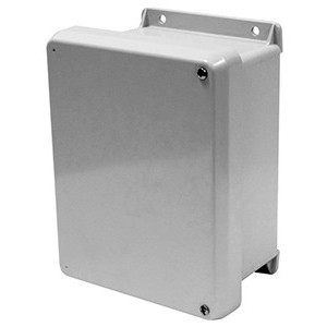 "GE VJ606HWLV13 Enclosure, NEMA 4X, Hinge Scover with Screws, 6"" x 6"" x 4"""
