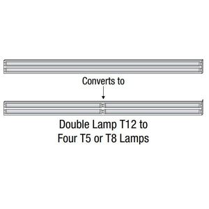 ALP CASEX-84LH Strip Fixture Retrofit, 2-Lamp T12 to 4-Lamp T5 or T8