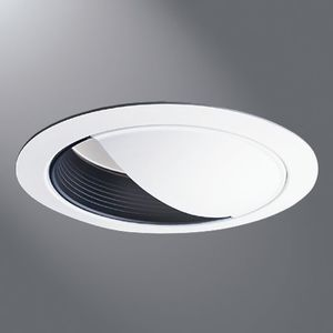 "Halo 430P 6"" Trim Wall Wash White Trim With Black Baffle"