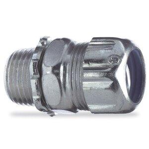 "Thomas & Betts 5232 Liquidtight Connector, Straight, 1/2"", Steel"