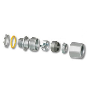 "Arlington LTMC50 1/2"" Liquid Tight, Concrete­Tight Zinc Fitting"