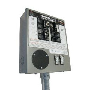 Generac 6376 Manual Transfer Switch, 30A, 125/250VAC, 10 Circuit, L14-30R, NEMA 1 **Discontinued**