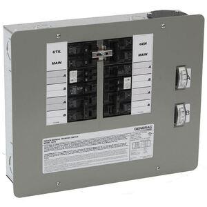 Generac 6378 Transfer Switch, Manual, 30A, 125/250V, 10-16 Circuits, Kit