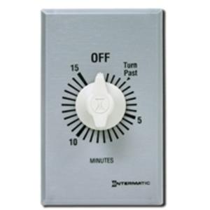 Intermatic FF15MC Spring Wound Timer, 15-Minute, SPST, Brushed Aluminum/Sandstone
